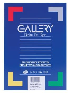 Gallery witte etiketten