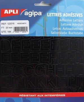 Agipa etiketten cijfers en letters