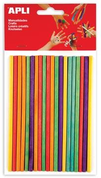 Apli houten gekleurde staafjes