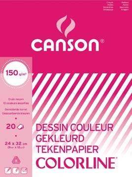 Canson gekleurd tekenpapier Colorline