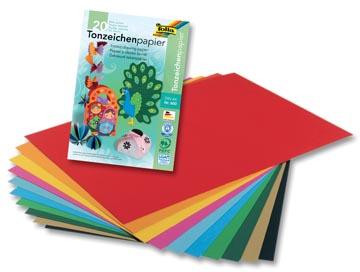 Folia gekleurd tekenpapier A4 20 vellen