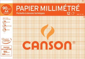 Canson millimeterpapier A4 bruin gelinieerd
