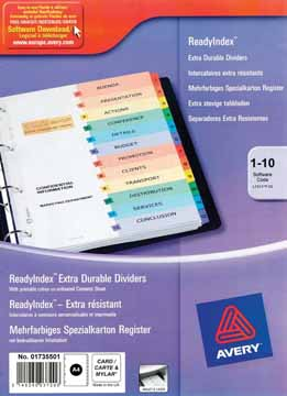 AVERY Ready Index tabbladen imprimables