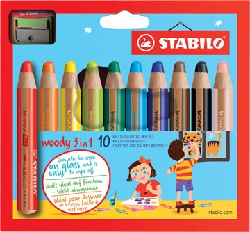 Stabilo kleurpotlood Woody 3 in 1