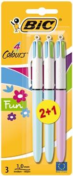 Bic 4-kleuren balpen Fashion