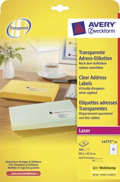 AVERY transparante etiketten QuickPEEL™