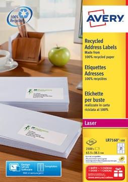 AVERY gerecycleerde laseretiketten QuickPEEL™