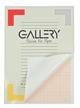 Gallery millimeterpapier A4 / A3 50 vellen