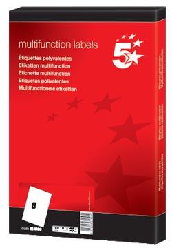 5Star Witte etiketten