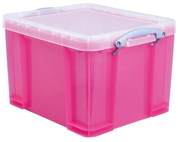Really Useful Boxes transparante opbergdoos 35 l