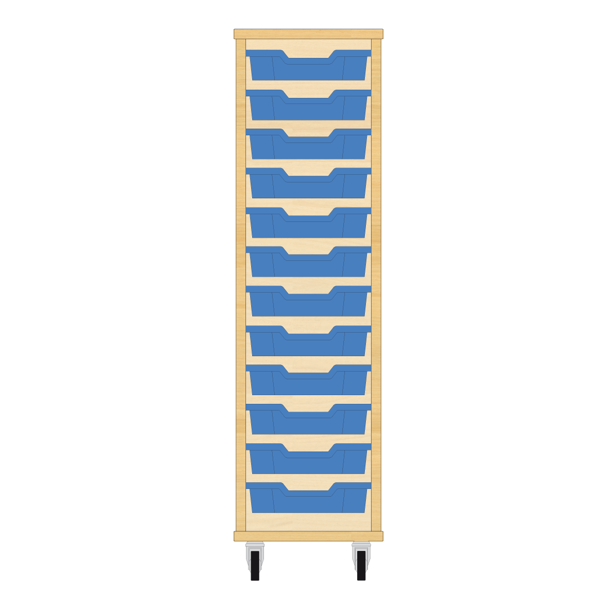 Storix Eigendomskast beuken 1 kol. 12 laden blauw